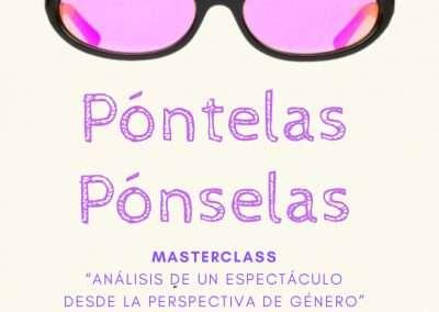 Masterclass: ANÁLISIS DE UN ESPECTÁCULO DESDE LA PERSPECTIVA DE GÉNERO